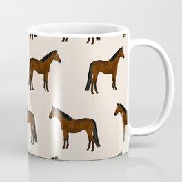 Bay Horse breed farm animal pet pattern horses Coffee Mug