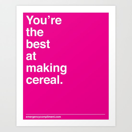 Making Cereal Art Print
