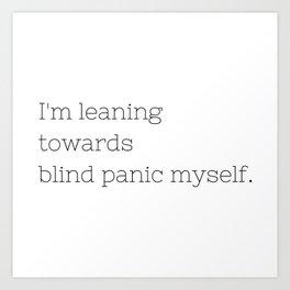 Blind Panic - Buffy, the Vampire Slayer - TV Show Collection Art Print