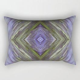 Claret and Moss Waves Rectangular Pillow