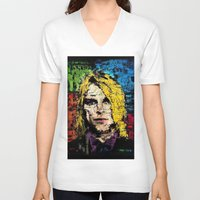 kurt cobain V-neck T-shirts featuring Nevermind Kurt  by brett66