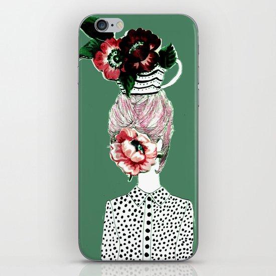 Tea Girl iPhone & iPod Skin