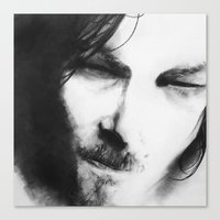 daryl Canvas Prints featuring Daryl by Ryan Eduad
