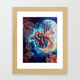 """""""Trying To Trust You"""" Painting Framed Art Print"""