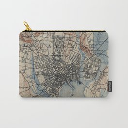 Vintage Map of New Haven Connecticut (1890) Carry-All Pouch