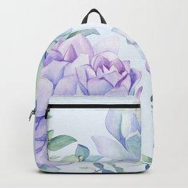 Wonderful Succulents Light Blue Backpack