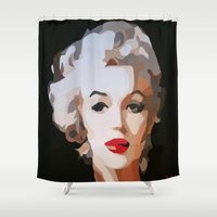 monroe Shower Curtains featuring Monroe by The Art Of Gem Starr