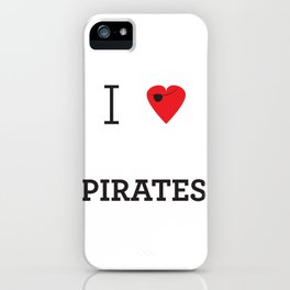 I heart Pirates iPhone Case