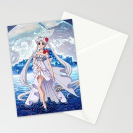 Sailor Moon Crystal Princess Serenity SILVER HAIR Stationery Cards