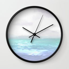 A Gloomy Seafront Wall Clock