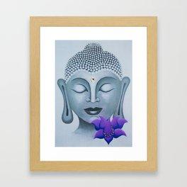 Buddha & Lotus 15 Framed Art Print
