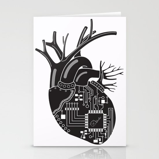 Corazón Negro (Black Heart) Stationery Cards