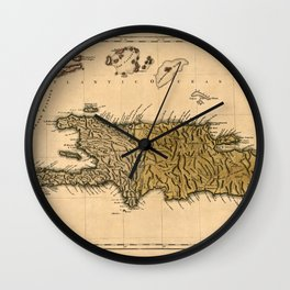 Map Of Hispaniola 1762 Wall Clock