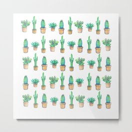 e original water color cactus Metal Print