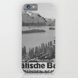 retro classic Rhaetische Bahn poster iPhone Case