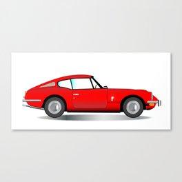 Old Hard Top Sports Car Canvas Print