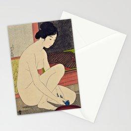 12,000pixel-500dpi - Hashiguchi Goyo - Woman after bath #1 Stationery Cards