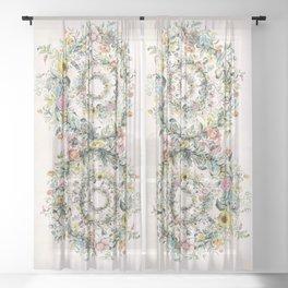 Circle of life- floral Sheer Curtain