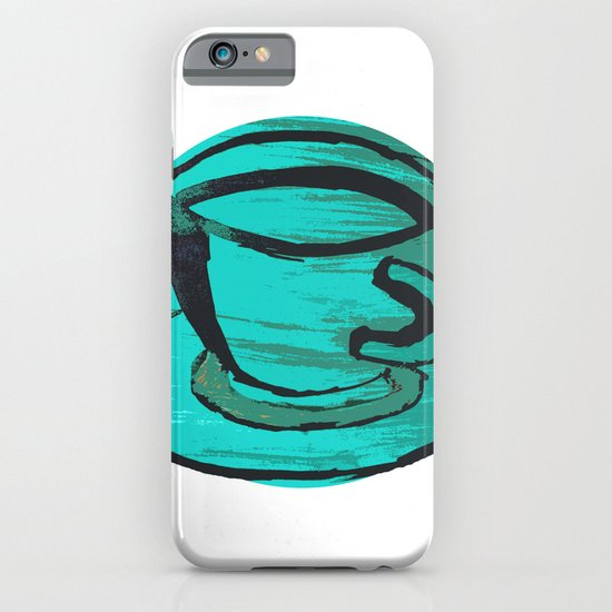 tea cup in green iPhone & iPod Case