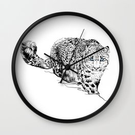Leopardo Bianco Wall Clock