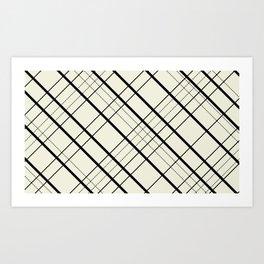 Black and cream plaid Art Print