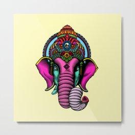 psychedelic elephant Metal Print