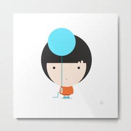 Blue Helium Metal Print