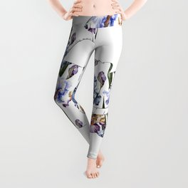 Alice floral designs - Cheshire cat all mad here Leggings