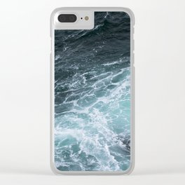 Mendocino High Tide Waves Clear iPhone Case