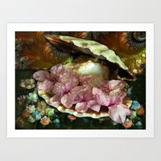 the World is My Oyster Art Print