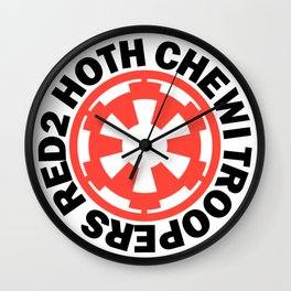Red2 Hoth Chewi Troopers Wall Clock
