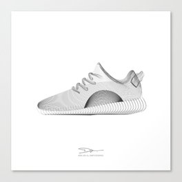 YEEZYS 350 Boost Sneakers Art Canvas Print