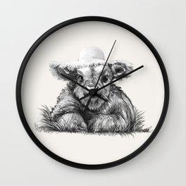 Baby Coo in Cream Wall Clock