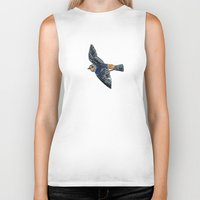 swallow Biker Tanks featuring Swallow by Rebecca Mcmillan