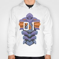 evangelion Hoodies featuring EVANGELION ANIMA UNIT 01 BACK by F4LLEN_LEAF