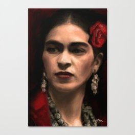 Frida Kahlo Portrait Canvas Print