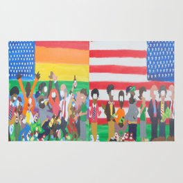 United we Stand Divided we Fall Rug