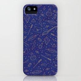 Yer a Wizard - Blue + Bronze iPhone Case