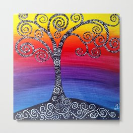 Growing Zenful tree Metal Print