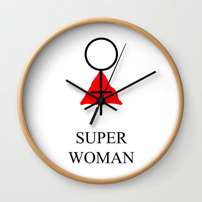 Super Woman Wall Clock