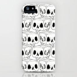Infinite Square Skulls  iPhone Case