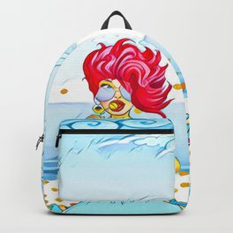 Girl at the beach Backpack
