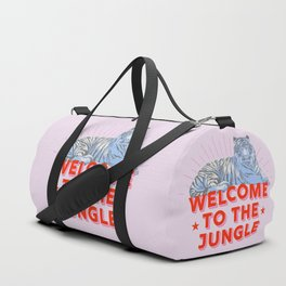 welcome to the jungle - retro tiger Duffle Bag