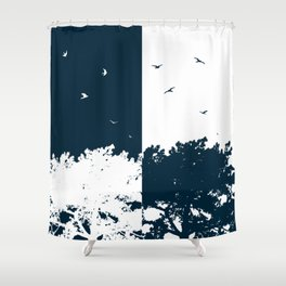 BIRDS AND THE TREES Shower Curtain