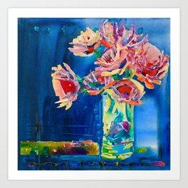 Study In Blue Art Print