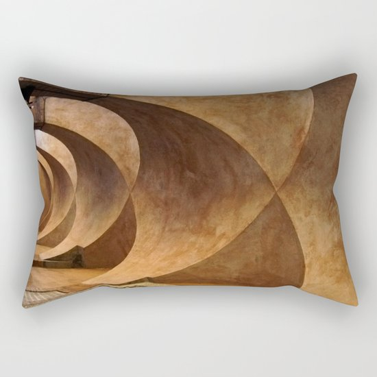 Symmetrical ceiling in Rome. Rectangular Pillow