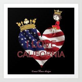 Lisy Loves California Art Print