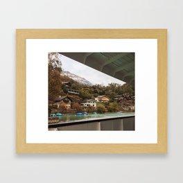 switzerland boat cruise Framed Art Print