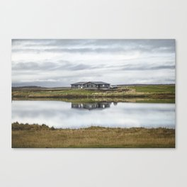 Reflection of Iceland. || Travel Shots. || Symmetry. || Blues Sky. || MadaraTravels Canvas Print