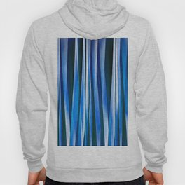 Harmony and Peace Blue Striped Abstract Pattern Hoody